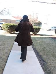 my coat is just right for me the fit color and style faux fur coats and denim are on trend so that how i m wearing my new