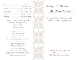 sample wedding program wording wedding program sample templates oyle kalakaari co