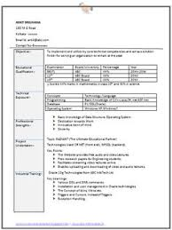Professional Curriculum Vitae / Resume Template for All Job Seekers Sample  Template of an Excellent Fresher