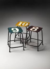 colorful contemporary modern industrial. Trio Modern Industrial Square Stool Set Assorted Colors Colorful Contemporary