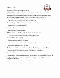 Line Cook Job Description For Resume Best Of Cook Resume Sample