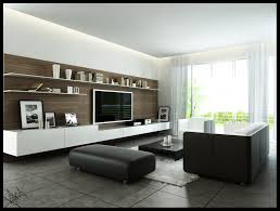 Living Room:Awesome Minimalist Livingroom Design With Black White Sofa And  Balck Contemporary Wooden Coffee