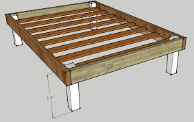 queen bed frame plans diy blueprints house 3372