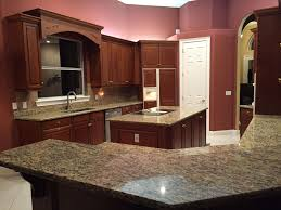 backsplash for santa cecilia granite countertop.  Countertop Backsplash For Santa Cecilia Granite Countertop Valid Light  With Dark Cabinets Intended For I