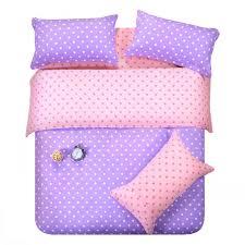 purple pink dots bedding set polka dot full queen size double doona quilt duvet cover cotton bed sheets bedspread linen bedsheet western ladybug bedding