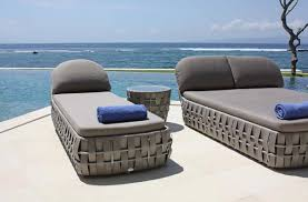 designer rattan loungers outdoor chill out furniture