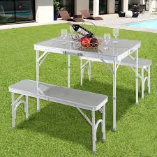 Foldable <b>Aluminum Alloy Garden</b> Picnic Camping Outdoor Table ...