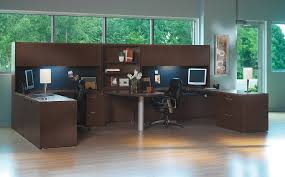 office desk for 2. The Office Leader Transitional Lamimate Mayline Aberdeen 2 Person Desk For F