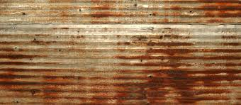rusted corrugated metal roof