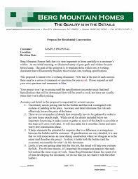 Construction Proposal Letter 31 Construction Proposal Template Construction Bid Forms