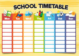 Timetable Chart Ideas Timeless Time Table Chart Ideas For Class Time Table Chart