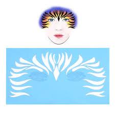 7 reusable face paint stencil painting template