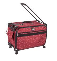 Tutto 22 Large Sewing Machine Bag On Wheels Red Dotted Circles