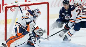 The oilers are appearing for the second straight year in the playoffs and the jets will be in the playoffs for the fourth straight season. Mike Smith Makes 25 Saves For Shutout As Oilers Blank Jets