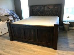 barnwood bed frame twin bed bed frame bedroom furniture alayna industrial barnwood platform bed frame headboard
