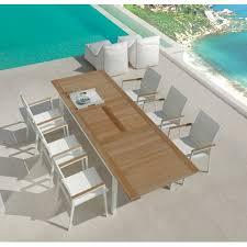 Tavolo In Teak Manutenzione : Set timber talenti tavolo con poltrone alluminio e teak