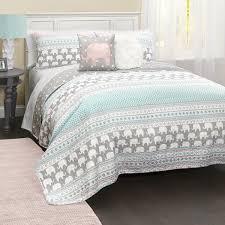 elephant bedding twin lush decor stripe 5 piece quilt set free today 13
