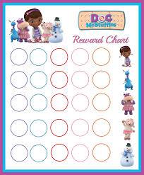Doc Mcstuffins Reward Chart Toddler Reward Chart Kids