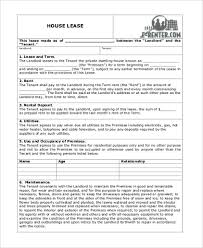 Lease Application Form Sample - 9+ Free Documents In Word, Pdf
