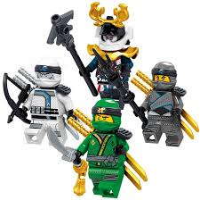 LEGO Ninjago Minifigures   Golden Lloyd Zane Cole Nya Kai Jay and Wu