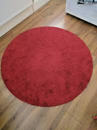 ikea round red rug in salford manchester gumtree kitchens with granite