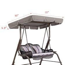 77x43x5 9 waterproof swing chair awning top cover canopy replacement for garden courtyard for outdoor swing chair hammock dome tents family cing tents