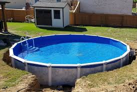 If you have more than a few inches drop, it is a good idea to level off the top side a bit first. How To Put An Above Ground Pool On A Hill