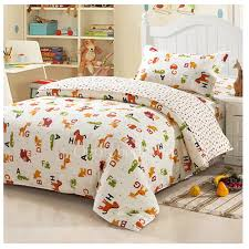 white chic animal print kids twin bedding sets