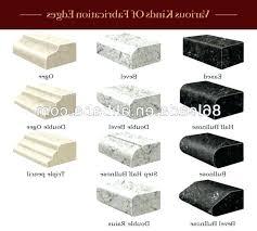 quartz countertop options quartz quartz countertop edge types