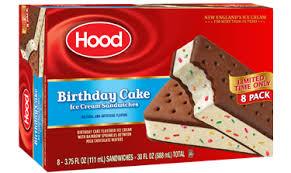 Hood Birthday Cake Ice Cream Sandwich Limited Edition