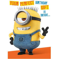 Minion Birthday Card With Assemble Your Own 3d Minion De048