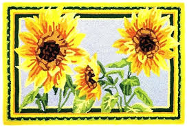 sunflower kitchen rugs sunflower kitchen rugs mat red elegant french country