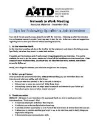 Following Up On Job Interview Tips For Following Up After A Job Interview A4td