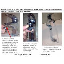 how to fit a tap aerator to a tap by every drop is precious