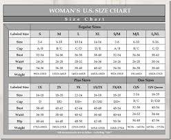 Size Charts Naughty And Nice Lingerie