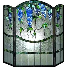 stained glass fireplace screen patterns wisteria screens main
