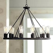 round black chandelier wide lighting shades