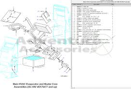 hummer h1 am general parts drawings 97 5 a c evap heatercore