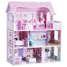 Amazon Costzon Dollhouse Doll Playhouse Cottage Set Multi Simple Make Your Own Barbie Furniture Property