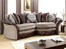 leather and cloth sofa couch large size of vs fabric sofa leather