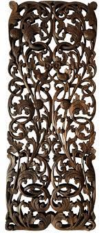 vine wood carved wall panels tropical