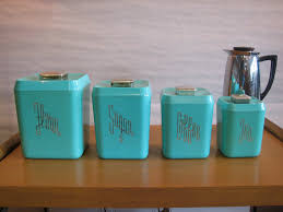 Retro Kitchen Canisters Mid Century Modern Vintage 1950s 60s Plastic Kitchen