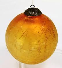 Antique Glass Ball Christmas Ornament Kugel Embossed Brass Amber ...
