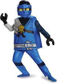 Amazon.com: Disguise Jay Deluxe Ninjago Lego Costume, Medium/7-8: Toys &  Games