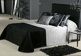 black white style modern bedroom silver. Bedroom Decorating Black And White For Modern Style Gothic Silver U