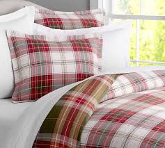 arthur grey plaid duvet cover sham pottery barn regarding plaid duvet covers king renovation