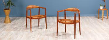 home new arrivals pair of hans j wegner round caned arm chairs for johannes hansen