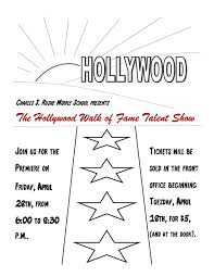 2017 Talent Show Flyer Charles S Rushe Middle School