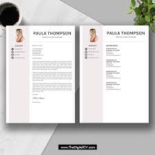 Modern Cv Sample 2019 Modern Resume Template Word Cv Template Cv Sample Cover