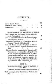 the metaphysics of ethics online library of liberty original table of contents or first page